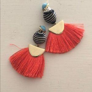 BAUBLEBAR black and white striped drop earrings